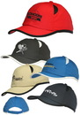 Custom 5-Panel Unconstructed Polyester Caps, Polyester, Adult Size