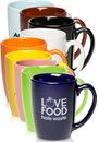 Custom 12oz Java Coffee Mugs, Stoneware, 4.125