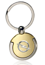 Custom Gold and Silver Round Keychains, Metal, 2.75