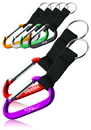 Custom Metallic Color Carabiner with Strap, Metal and Threaded Strap, 5.75
