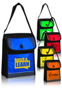 Custom Flap-Over Lunch Tote Bags, 600 Denier Polyester + 420D Ripstop + 13C White PVC, 8