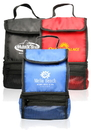 Custom Twin Compartment Insulated Lunch Bags, 420 Denier Polyester + 2mm Pe Cotton+12C Peva + 2mm Aluminum Foil, 6.5