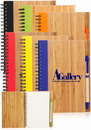 5 x 7 In. Eco Bamboo Notebooks, Bamboo Covers and Recycled Paper