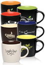Custom 9 oz. Two-Tone Ceramic Mugs, Stoneware, 3