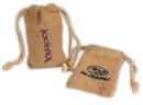 Custom IB350 Colored Jute/ Burlap Drawstring Bag, 3