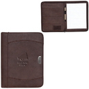Custom BL5272 Zippered Notebook Portfolio, Premium Bonded Leather, 10
