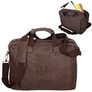 Blank BL6339 Laptop Brief, Premium Bonded Leather, 16.5