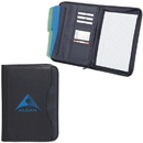Custom PL2460 Zippered Notepad Portfolio, Koskin Material, 10.25