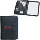 Custom PL689 Zippered Notepad Portfolio, Koskin Material, 10.25