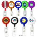 Custom Round-Shaped Retractable Badge Holder, 1 1/4