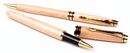 Custom 3613-MAPLE - Impella Wood Twist Action Ballpoint & Rollerball Pen Set