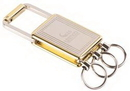 Custom 6708 - Silver and Gold Key Chain with Valet Option for 3 Keys