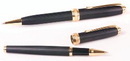 Custom 6713-BLACK - Inluxus Executive Style Ballpoint Pen & Rollerball Pen Set with Gold Appointments