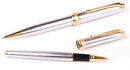 Custom 6713-CHROME - Inluxus Executive Style Ballpoint Pen & Rollerball Pen Set with Gold Appointments