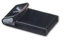 Custom GLCH - Insignia Black Leather Business Card Holder