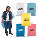 Disposable Rain Poncho With Hood In Compact Pouch
