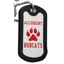 Custom 0143 - Aluminum Dog Tag with Black Trim, 2