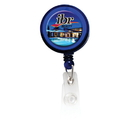 Custom BH102 - Round Retractable Badge Holder with Slip on Clip, 1 1/4