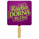 Custom FS102-1 - Square Hand Fan with Glued Handle/Spot Color Imprint, 7 1/2
