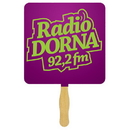 Custom FW102-1 - Square Sandwiched Hand Fan/Spot Color Imprint, 7 1/2