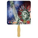 Custom FW102-4 - Square Sandwiched Hand Fan/Four Color Process, 7 1/2