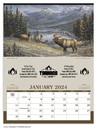 Triumph Custom 3106 Wildlife Art Calendar, Offset