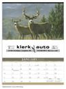 Triumph Custom 3111 Wildlife Art By The Hautman Brothers Calendar, Offset