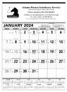Triumph Custom 6100 Black & White Contractor Memo Calendar, Offset
