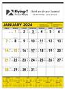 Triumph Custom 6101 Yellow & Black Contractor's Memo (13-Sheet) Calendar, Offset