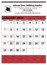 Triumph Custom 6102 Red & Black Contractor's Memo (13-Sheet) Calendar, Offset