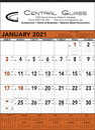 Triumph Custom 6103 Orange & Black Contractor's Memo (13-Sheet) Calendar, Offset