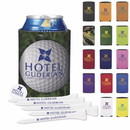 Custom Koozie 61953 Collapsible Golf Tee Kit, Kooler - Polyester with Foam Backing Contents - Vary