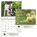 Good Value Calendars Custom 7020 Baby Farm Animals - Spiral Calendar, Digital