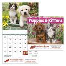 Good Value Calendars Custom 7207 Puppies & Kittens - Stapled Calendar, Offset