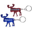 Custom Elk Shape Bottle Opener Key Chain, 2 1/4