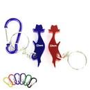 Custom Cat Shape Bottle Opener Key Chain, 2 1/4