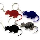Custom Mouse Shape Bottle Opener Key Chain, 2 1/4