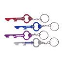 Custom Key Shape Bottle Opener Keychain, 3