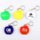 Custom Apple Shape Tape Measure Key Chain, 1 3/4