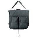 Custom GB1200 Deluxe Garment Bag, 600D Polyester/PVC - Black
