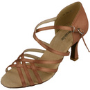 Go Go Dance Dark Tan Satin Dance Shoes - 12032-65