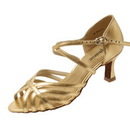 Go Go Dance Gold Leather Dance Shoes - 12050-32