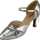 Stephanie Dance Shoes 15021-42, Silver Leather