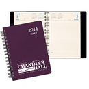 Custom DB-21 Daily Desk Planners, Leatherette Covers, 5 1/2 x 8 1/2 inch