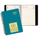 Custom DB-2A Daily Desk Planners, Shimmer Covers, 5 1/2 x 8 1/2 inch