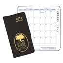 Custom MBU-11 Monthly Pocket Planners, Leatherette Covers, 3 1/2 x 6 1/2 inch, Saddle-Stitched