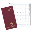 Custom MBU-1A Monthly Pocket Planners, Shimmer Covers, 3 1/2 x 6 1/2 inch, Saddle-Stitched
