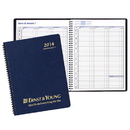 Custom PR-31 Weekly Planners, Leatherette Covers, 8 1/2 x 11 inch, Wire-Bound