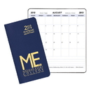Custom SMB-11 Academic Monthly Planners, Leatherette Academic Monthly Pocket, 3 1/2 x 6 1/2 inch, Saddle-Stitched