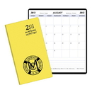 Custom SMB-13 Academic Monthly Planners, Continental Vinyl Academic Monthly Pocket, 3 1/2 x 6 1/2 inch, Saddle-Stitched